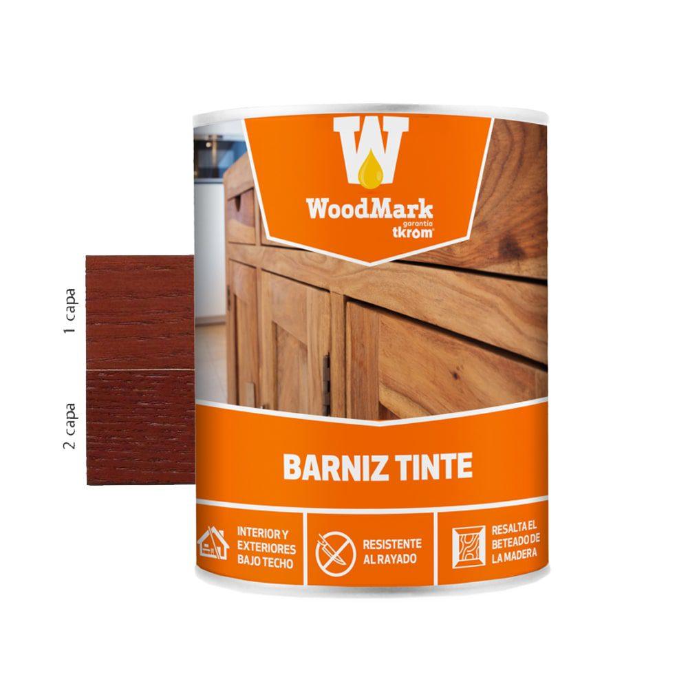 Barniz tinte satinado Woodmark color caoba 1 | Potspintura.com