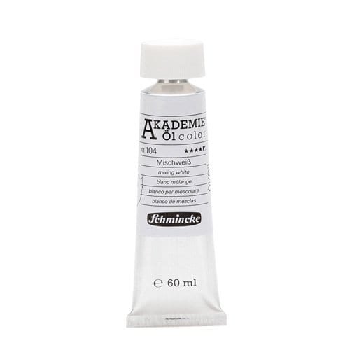 Pintura al óleo en tubo blanco de mezclas Akademie ÖL color de Schmincke 1 | Potspintura.com
